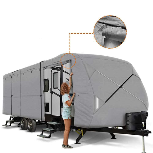 NEW EASY SETUP Travel Trailer RV Cover GRAY