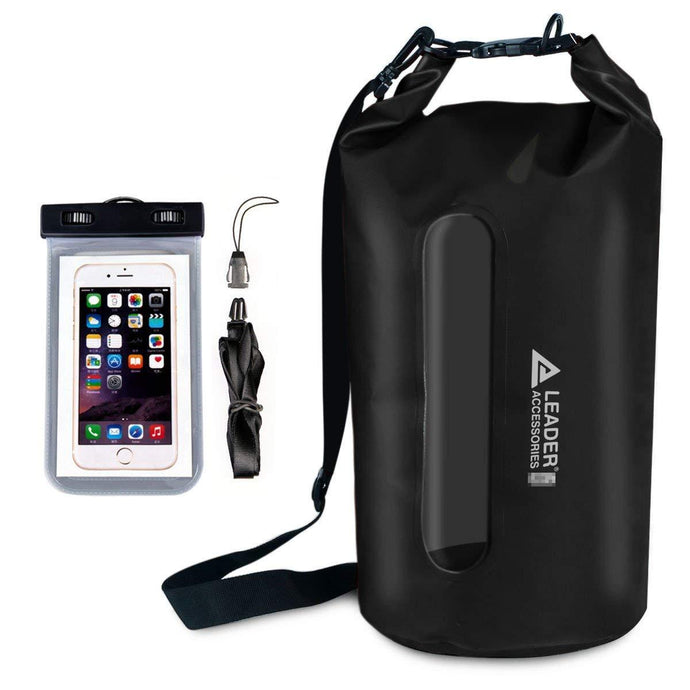 Waterproof PVC Dry Bag with Clear Window - Leader Accessories