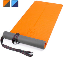 "Load image into Gallery viewer, Yoga Mat Pilates Floor Exercises 72""X 24"" X1/4"""