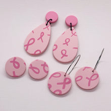 Load image into Gallery viewer, Pink Ribbon Large Studs