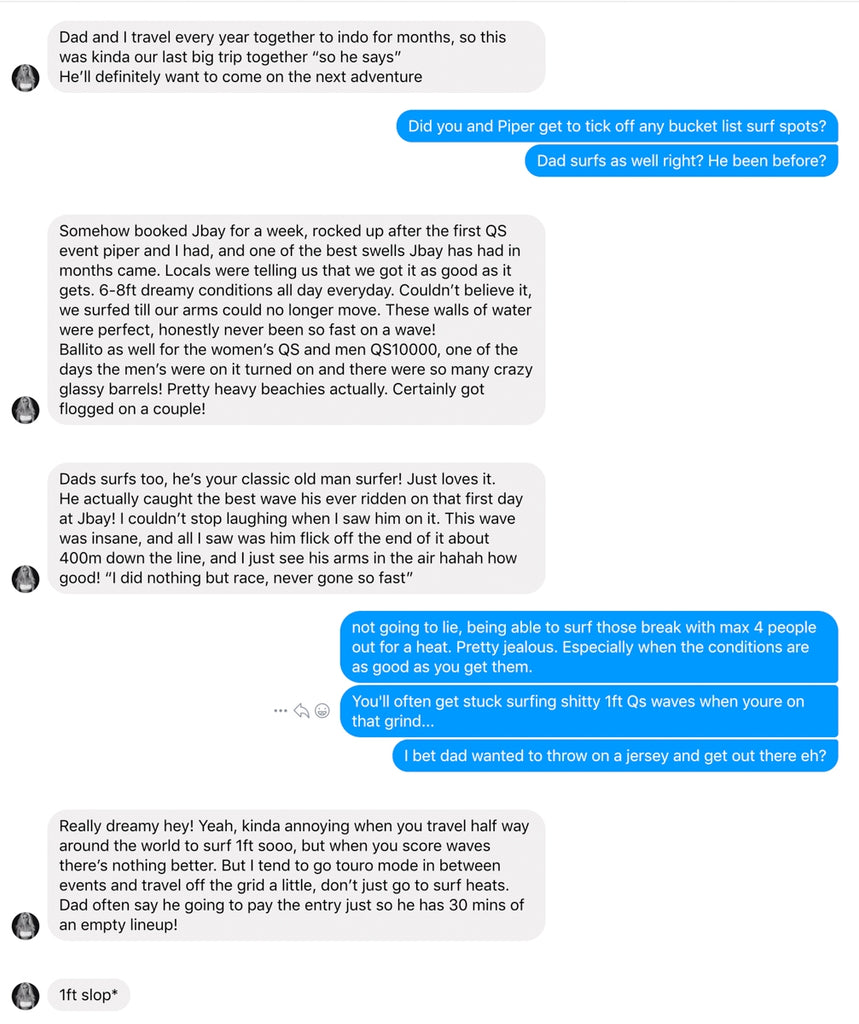 Rusty Australia slid into Sophie's DMs and they chatted about her recent 6 week trip to South Africa.  Rusty Surfboards South Afric