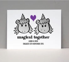 Load image into Gallery viewer, Personalised Magical Unicorn Love Card or Print
