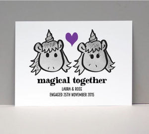 Personalised Magical Unicorn Love Card or Print