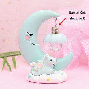 LED Unicorn and Moon Night Light
