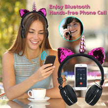 Load image into Gallery viewer, Bluetooth Unicorn Headphones in Pink or Black