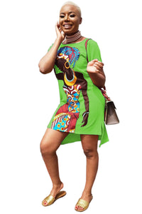 Vibrant African Woman Dress - Various Colours Available