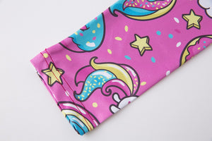 Women's Pink Unicorn and Donuts Leggings