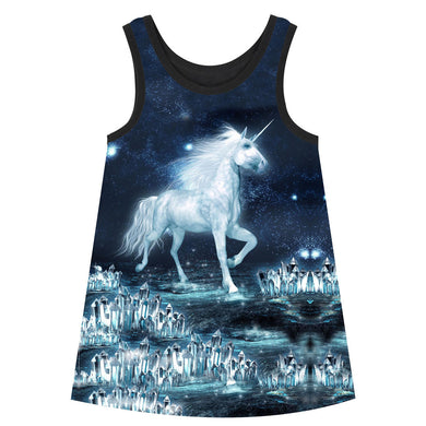 Children's Knee Length Unicorn Dress