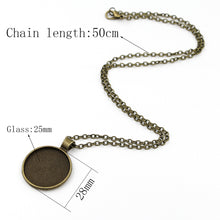 Load image into Gallery viewer, Round Crystal Glass Pendant Necklace