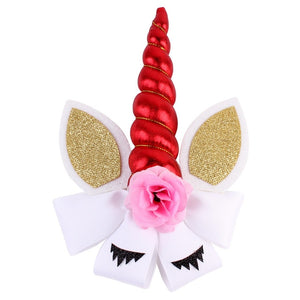 Elastic Unicorn Hair Band Bow