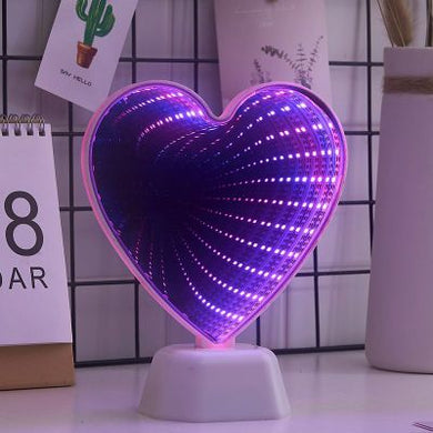 Beautiful Heart Illusion LED Night Light