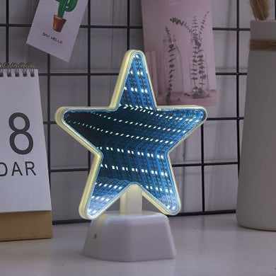 Beautiful Star Illusion LED Night Light