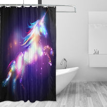 Load image into Gallery viewer, Colorful Unicorn Shower Curtain with 12 Hooks