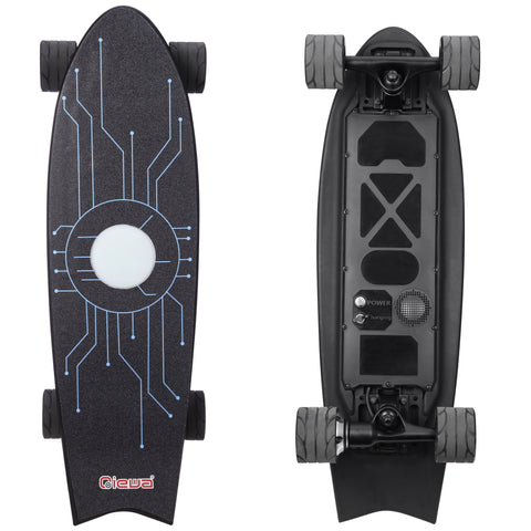 Qiewa Q-POINT Electric Skateboard High speed dual motor electric 350 Watts Top Speed 22MPH - 1-Year Warranty