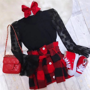 Jackie Plaid Set