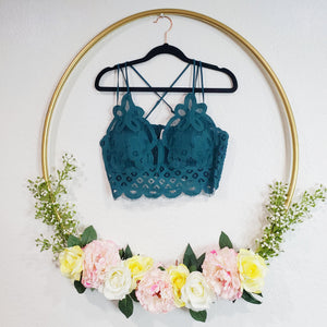 Deep Green Lace Bralette