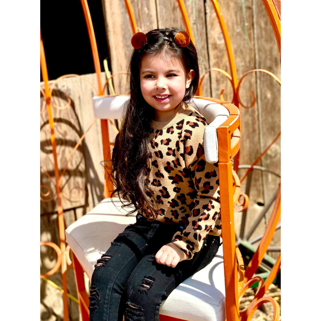 Brown Leopard Sweater