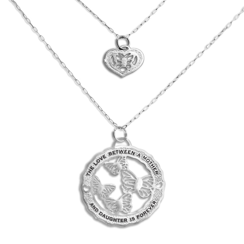 Wings of Love Double Necklace - Mom and Daughter