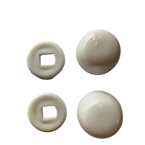 687243W White Bolt Caps for Non-Skirted Bowls