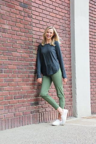 Peggy Pant Olive Green