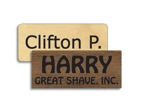 Copy of 1.25 x 3 inches Classic Wood Name Tag