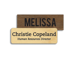 1 x 3 inches Classic Wood Name Tag