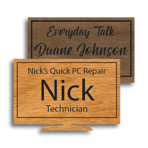 TV/Monitor Shape Wood Name Tag