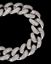 19mm Diamond Cuban Link Choker in White Gold