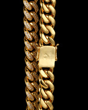 19mm Gold Diamond Cuban Link Choker