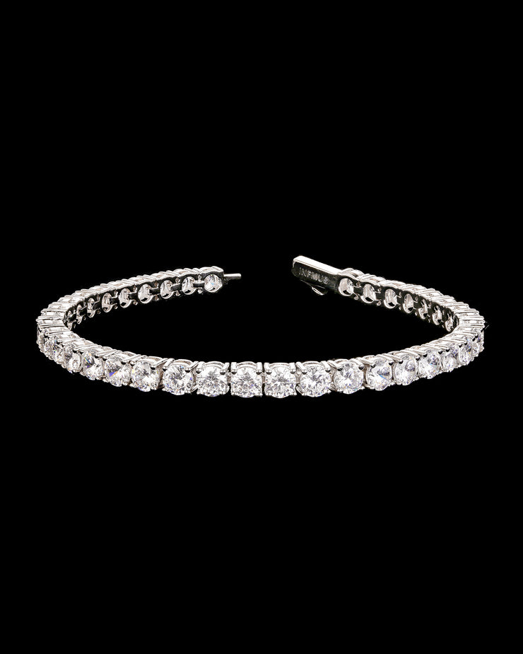 5mm Round Cut Tennis Bracelet in White Gold