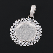 Custom INFMUS Diamond Feather Photo Pendant