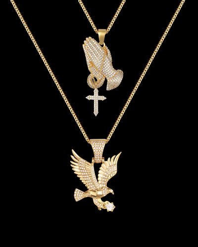 Praying Hands & Eagle Set