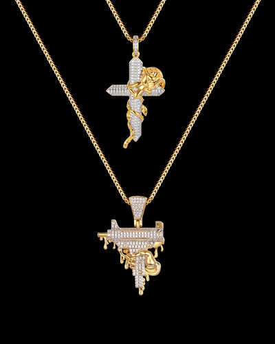 Uzi Drip & Rose Cross Set
