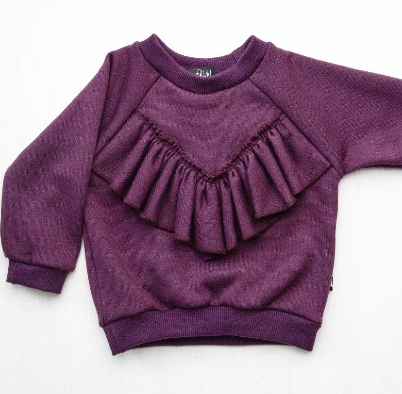 Frill Sweater - Berry