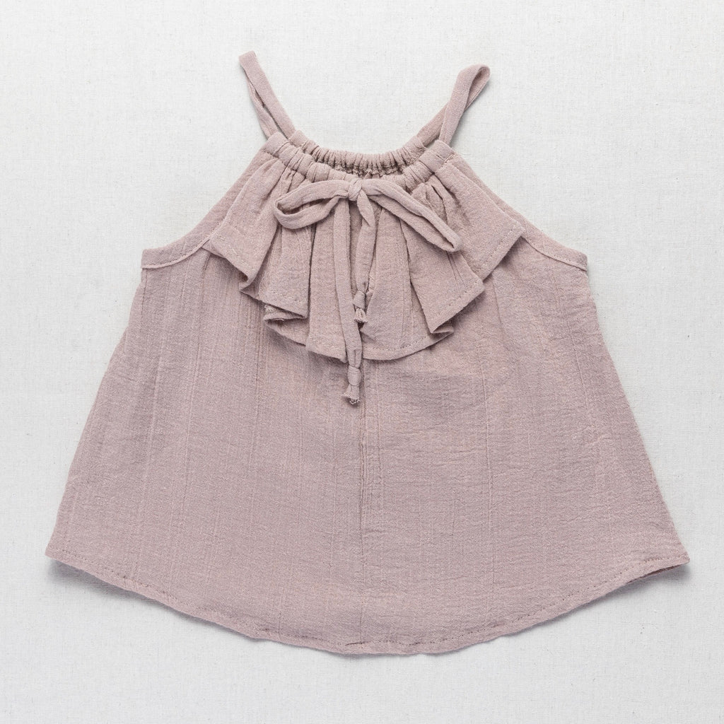 Frill Drawstring Top - Dusty Rose