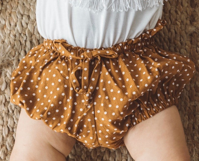 Scrunchie Waist Bloomer - Toffee Spot