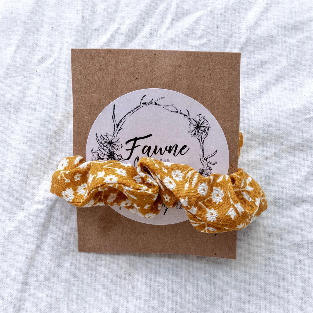 Scrunchie - Rusty Gold Floral