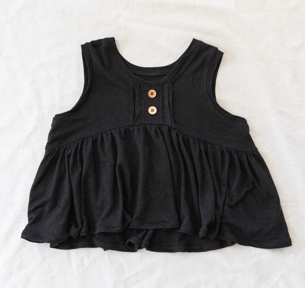 Chloe Top - Ebony Linen
