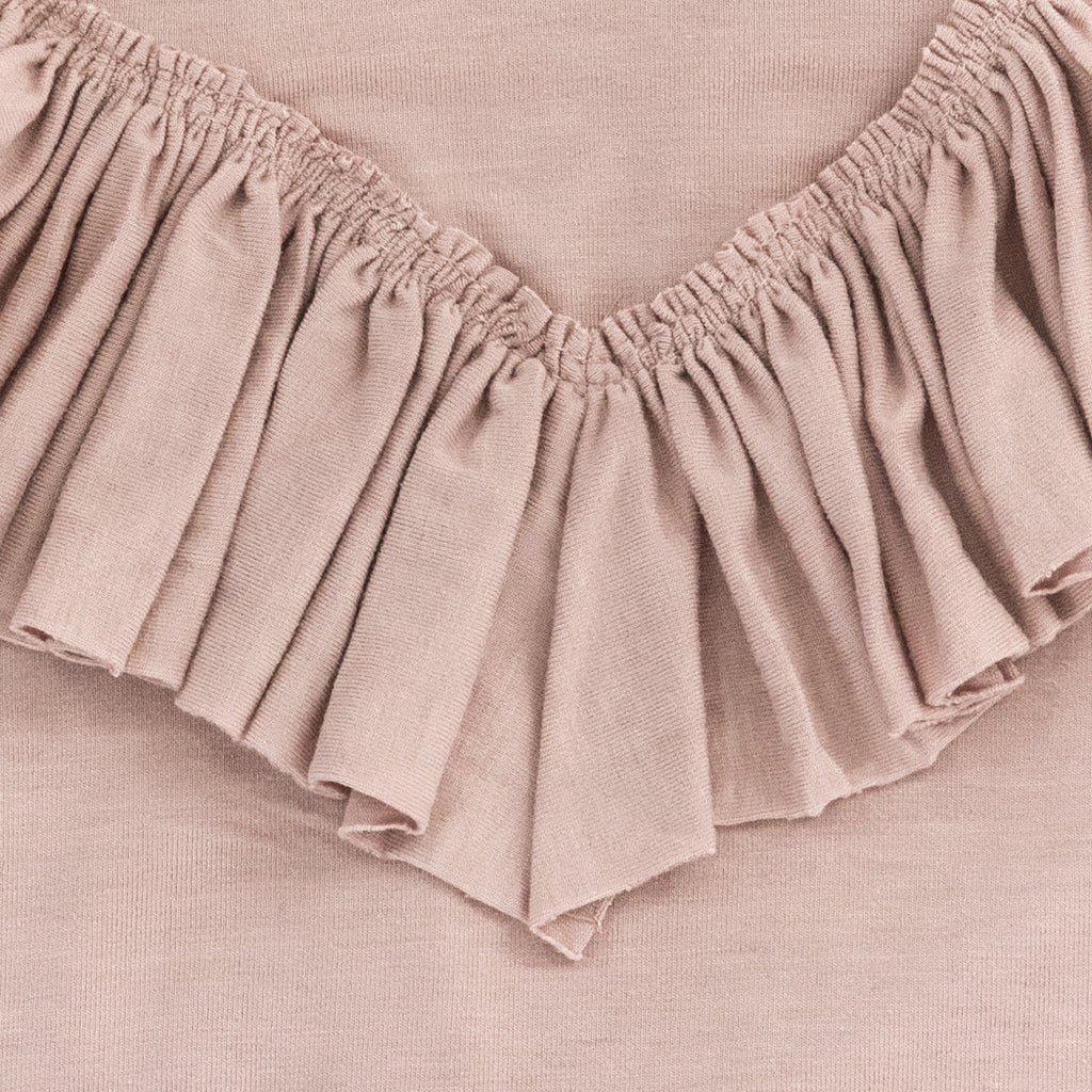 Frill Playsuit - Dusty Pink