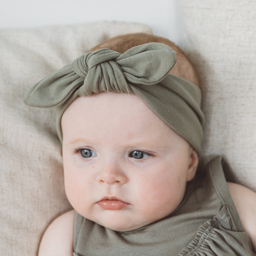 Bow Topknot - Sage