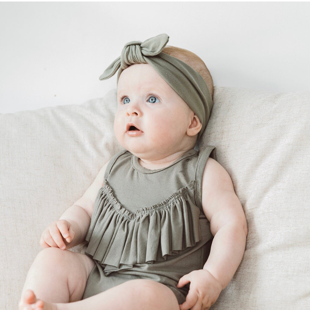 Frill Playsuit - Sage