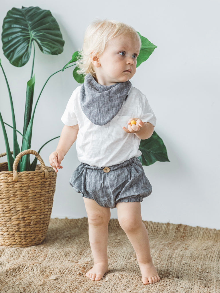 Button Bloomer - Grey Marle