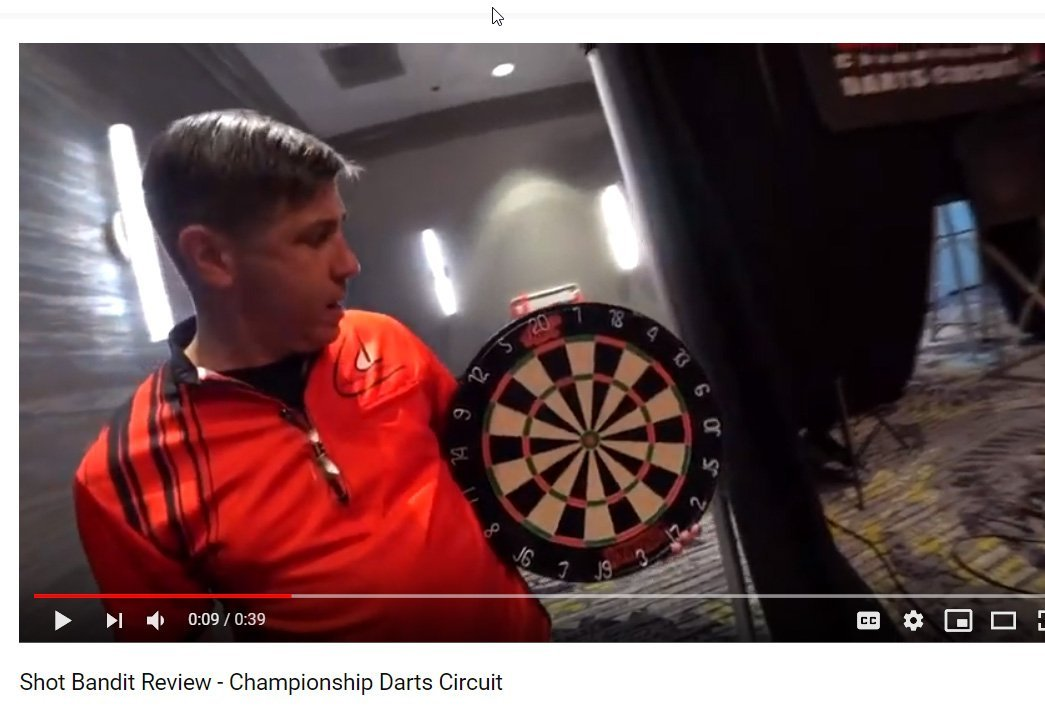CDC Reviews the New Shot Darts Bandit Dartboard!