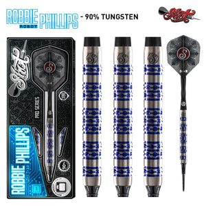 Shot Pro Series-Robbie Phillips Soft Tip Dart Set-90% Tungsten Barrels - shot-darts