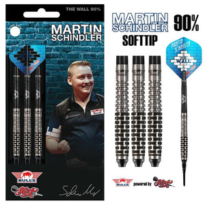 Martin Schindler Soft Tip Dart Set-90% Tungsten Barrels - shot-darts