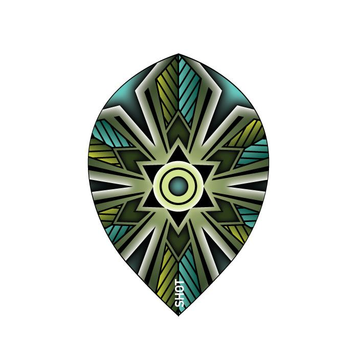Talisman Teal Dart Flight Set-Teardrop - shot-darts