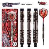 Warrior Hautoa Soft Tip Dart Set-80% Tungsten - shot-darts
