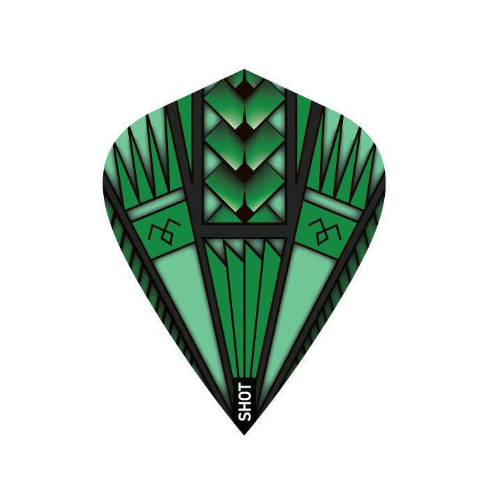Armour Green Dart Flight Set-Kite - shot-darts