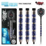 Shot Pro Series-Robbie Phillips Steel Tip Dart Set-90% Tungsten Barrels - shot-darts