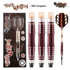 Tribal Weapon 3 Series Soft Tip Dart Set-90% Tungsten Barrels - shot-darts